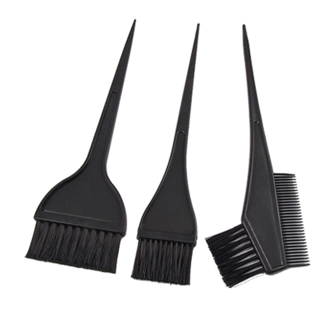 Black Plastic Handle Hair Color Tint Dye Perm Brush Comb US-SA-AJD-338002