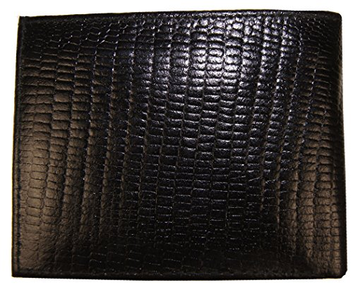 Genuine Leather Snake Skin Designed Bi-fold Men's Embossed Wallet - Snakeskin Wallet Embossed