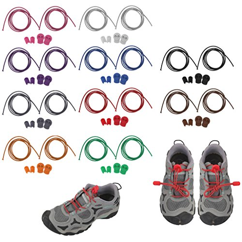 MagiDeal Reflective Shoe Laces Locking Shoelaces Cycling Shoestring Rose 19VIoKMh
