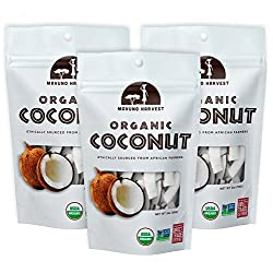 Mavuno Harvest Fair Trade Gluten Free Organic Dried Fruit, Coconut, 3 Count