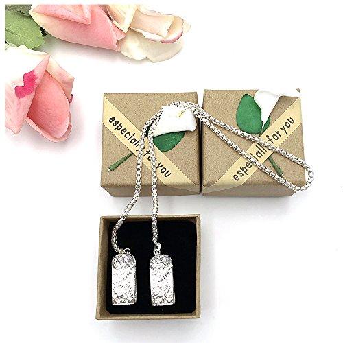 Longjet Napkin Clip, Silver Plated Necklace