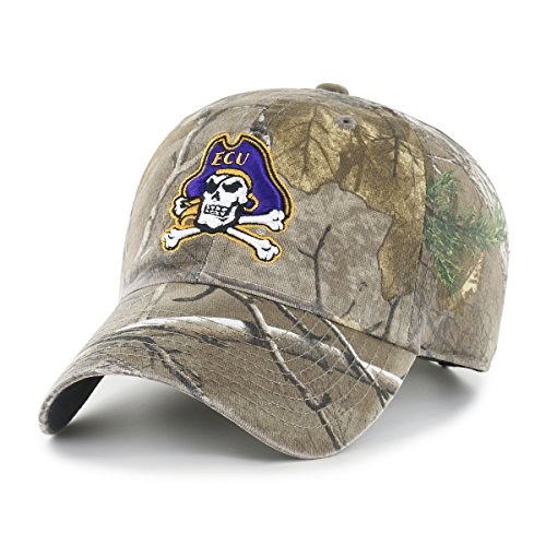 NCAA East Carolina Pirates Realtree OTS Challenger Adjustable Hat, Realtree Camo, One Size