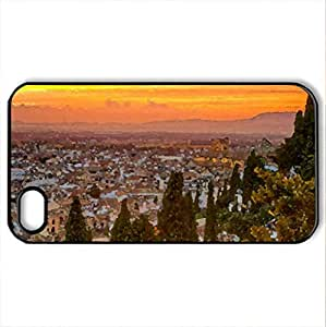 Architecture View - Case Cover for iPhone 4 and 4s (Houses Series, Watercolor style, Black) by icecream design