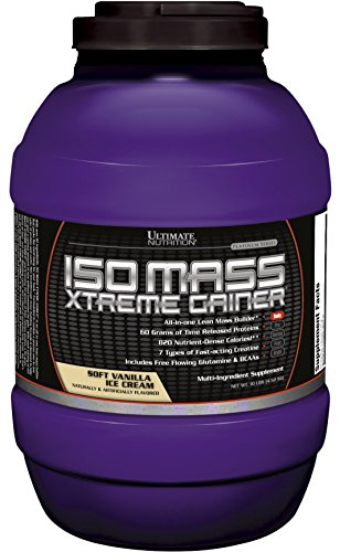Ultimate Nutrition Iso Mass Xtreme Gainer (Vanilla Ice Cream, 10lb) by Ultimate Nutrition