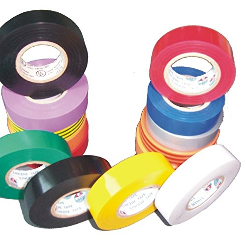 REALPACK® 6 X Mixed Colour Electrical Insulation Tape 20m - Created For Best Insulation and Protection , Free Fast Shipping *Next Day UK Delivery* REALPACK®