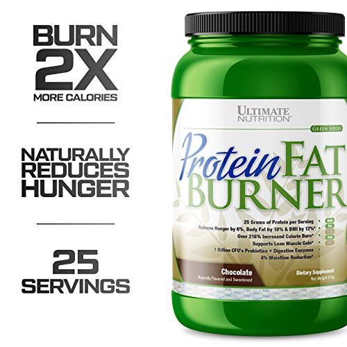 (Ultimate Nutrition Protein Fat Burner Whey Protein Powder for Weight Loss - Keto Friendly with Natural Hunger Reducing Ingredients, 30 Servings, Chocolate )