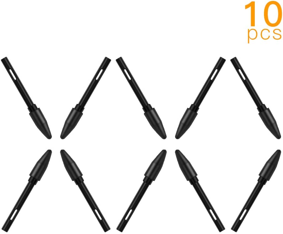 Ajcoflt PN05 10pcs Replacement Nibs Pen s Compatible with PW500//PW507 Graphics Drawing Tablet Stylus Black