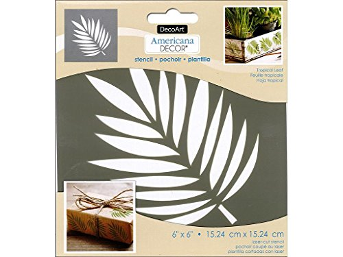 Stencil Leaf - DecoArt DECADS-K.107 Americana Decor Stencil Tropical Leaf, 6