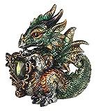 StealStreet Virgo Zodiac Stone Embellished Dragon Collectible Figurine, Green