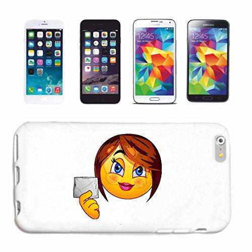 """cas de téléphone iPhone 7+ Plus """"SMILEY LADY WITH LOVE LETTER """"SMILEYS SMILIES ANDROID IPHONE EMOTICONS IOS grin VISAGE EMOTICON APP"""" Hard Case Cover Téléphone Covers Smart Cover pour Apple iPhone en"""