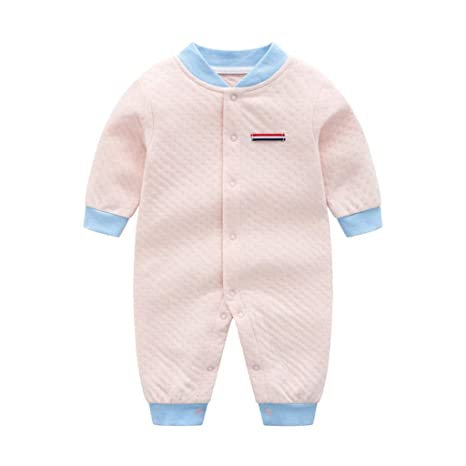 Recién Nacido Pijama Bebés Algodón Mameluco Niñas Niños Pelele Manga Lunga Body Trajes 0-3