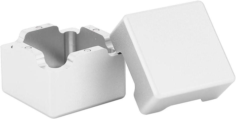 Alomejor Porte-Craie de Billard Mini Transporteur de craies de Piscine de Billard en Aluminium Portable avec Couvercle inf/érieur magn/étique
