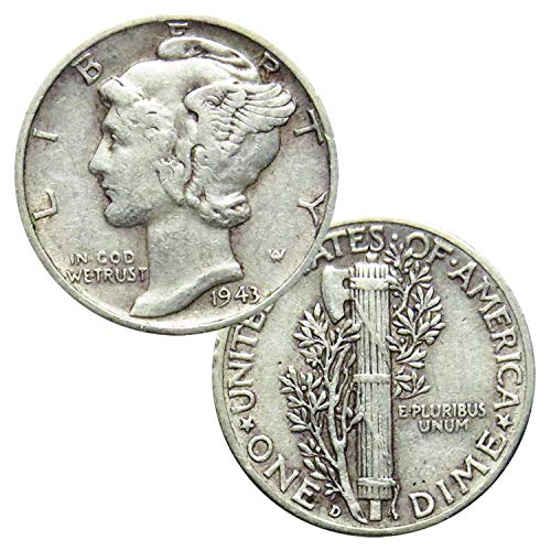 (Set of 10 Silver Mercury Dimes Extra Fine)