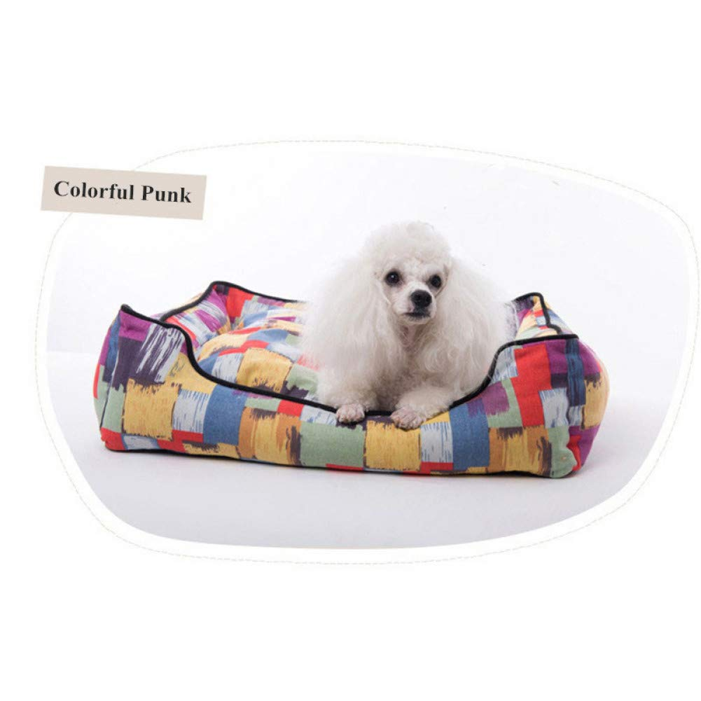 colorful Punk 40x30x16cm CZHCFF Comfortable large size dog bed sofa pet dog nest kennel small medium for dogs cat dog kennel cushion S to XXL size XXL