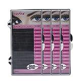 4 Tray False Eyelash Extensions C Curl 8/10/12/14mm Salon Makeup Accessories