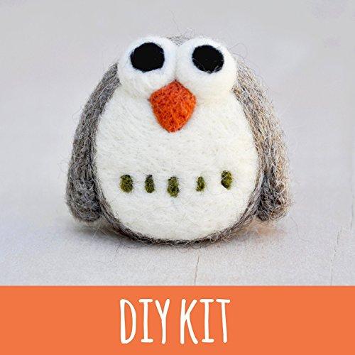 Needle felting Kit, beginner, owl, felting starter kit, craft kit for adults, diy kit for adults from Noristudio