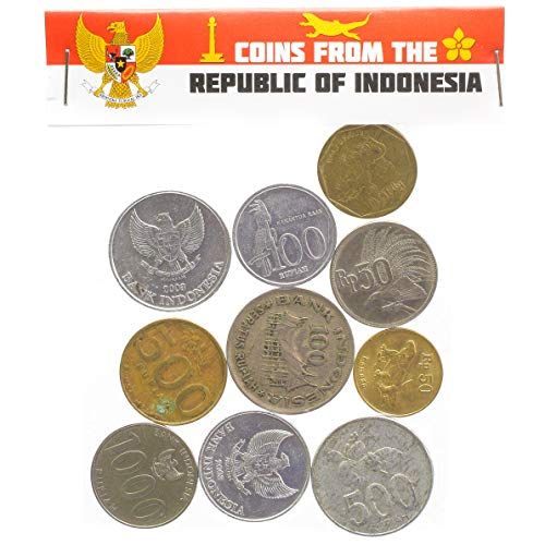 Hobby of Kings Indonesia Coins from Southeast Asia Island Indonesian Old Collectible Coins LOT RUPIAH - Indonesia Coin