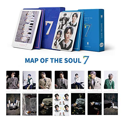 2Pack/108PCS BTS Lomo Card Postcards Map Of The Soul: Persona Photo Cards(Blue)