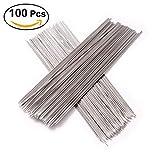 Toyvian Stainless Steel Barbecue Skewers, BBQ Needles Sticks Skewers - 100pcs