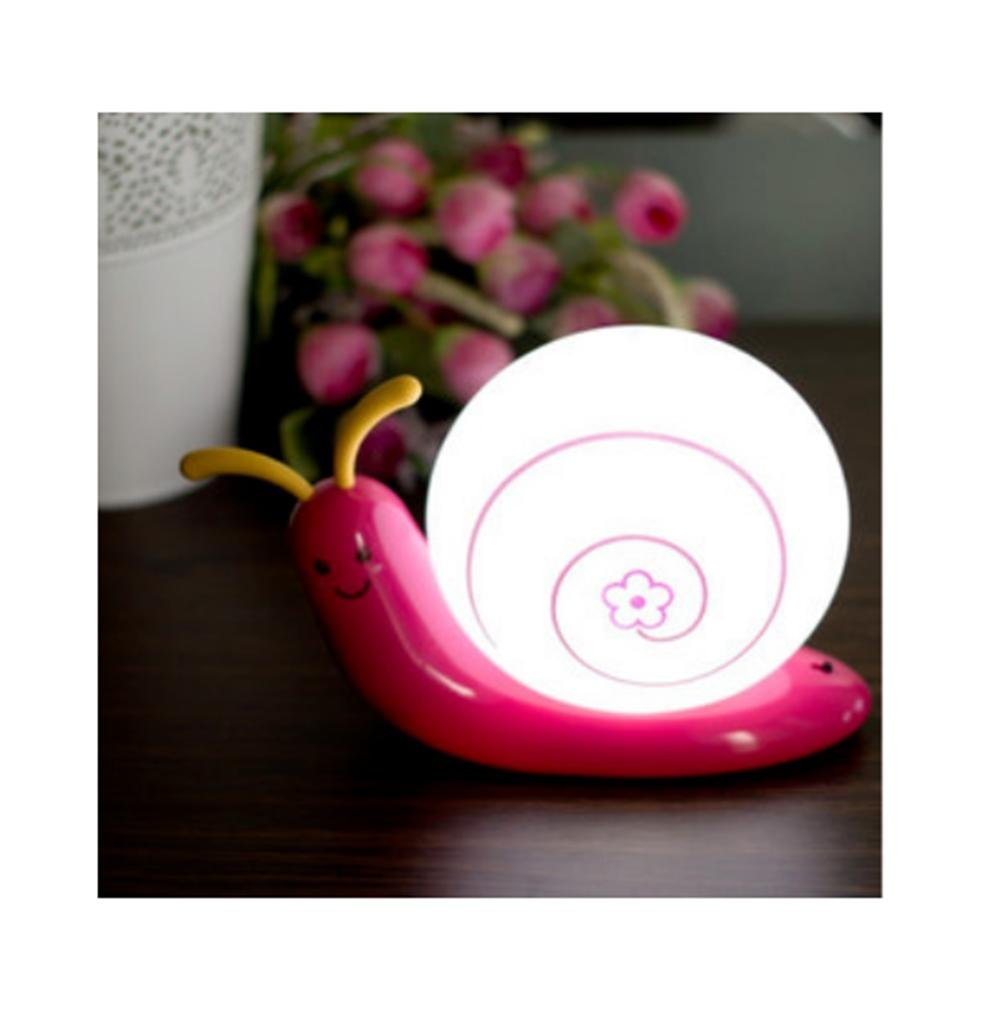 GYMNLJY Energy-saving cute led night light plug in the bedroom bedside lamp charge lamp baby baby lamp , rose red