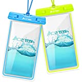 Waterproof Phone Pouch, Ace Teah IPX8 Water Proof Cell Phone Pouch Universal Waterproof Phone Case for iPhone X/8/8plus/7/7plus/6s/6/6s plus Samsung galaxy s8/s7 Google Pixel HTC10, 2 Pack