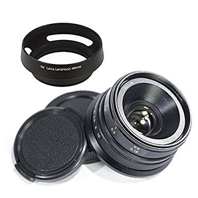 46mm Lens Hood for Leica M Pixco 25mm F1.8 HD.MCManual Focus Lens for Micro Four Thirds M4//3 Mount Cameras