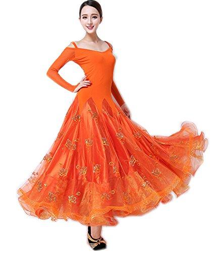 限定版 garuda サイズXL 社交ダンス ドレスダンス衣装 豪華モダン競技ワンピース garuda オレンジ色 オレンジ色 B075B5SNVZ サイズXL, 靴ショップ やまう:098b83ed --- a0267596.xsph.ru