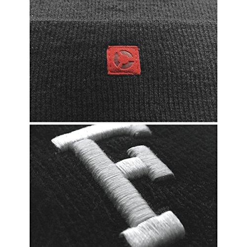 399 Masterdis Unisex Cuff Unica Schwarz Letter Beanie 322 Schwarz Taglia Knit qxIxrYgwO