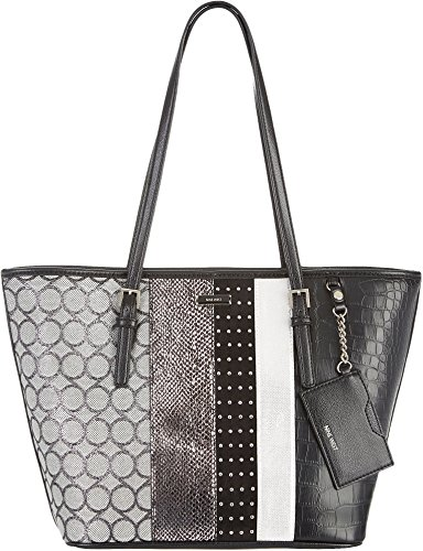 Nine West Ava Tote, Black/Black/Milk/Silver/Silver/Black/Black/White