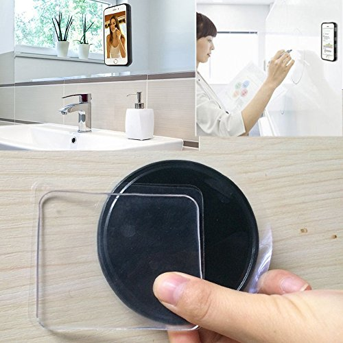 12Pcs Removable Sticky Cell Pads Gel Pads Double Side Cell Phone Pads Holder Non-Slip Mat for Wide Applications Stick to Car Dashboard Glass Mirrors Whiteboards Metal Kitchen Cabinets Tile
