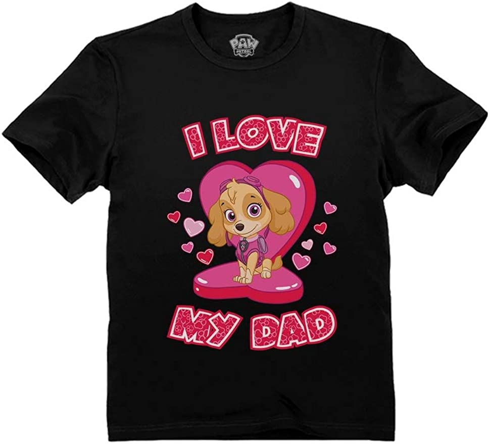 Happy Fathers Day Love Pink 2-6 T Toddler Baby Girls 100/% Cotton Short Sleeve T Shirt Top Blouse Tee Clothes