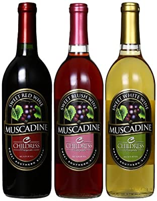 Childress Vineyards Southern Sipper Muscadine Mixed Pack, 3 x 750 mL