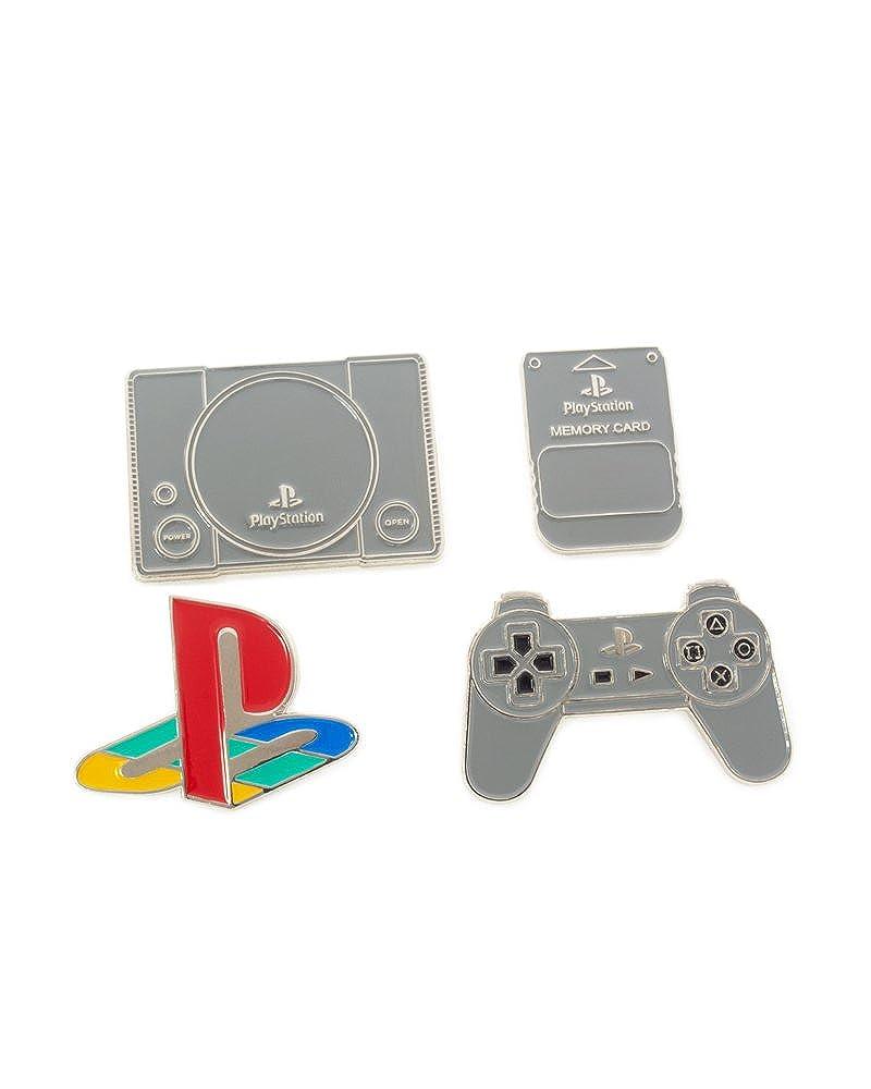 Amazon.com: Juego de insignias oficiales de Playstation 1 ...