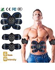 CHANDA ABS Trainer Muscle Toner, Portable Abdominal Muscle Toning Belt Home Fitness Training Equipment, 6 Modes & 10 Levels Simple Operation for Abdomen/Arm/Leg Training Men and Women