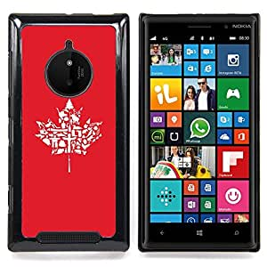 SKCASE Center / Funda Carcasa protectora - Modelo de la hoja de arce;;;;;;;; - Nokia Lumia 830
