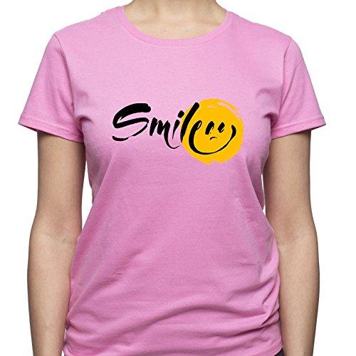 Tshirt Smile Keep T Emoji Shirt Shirt Smiling Positive Donna Shirt Rosa Smile T 4qSwREtwgx