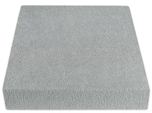 Frottee Spannbetttuch 70x140 cm (70 x 140 cm, grau)