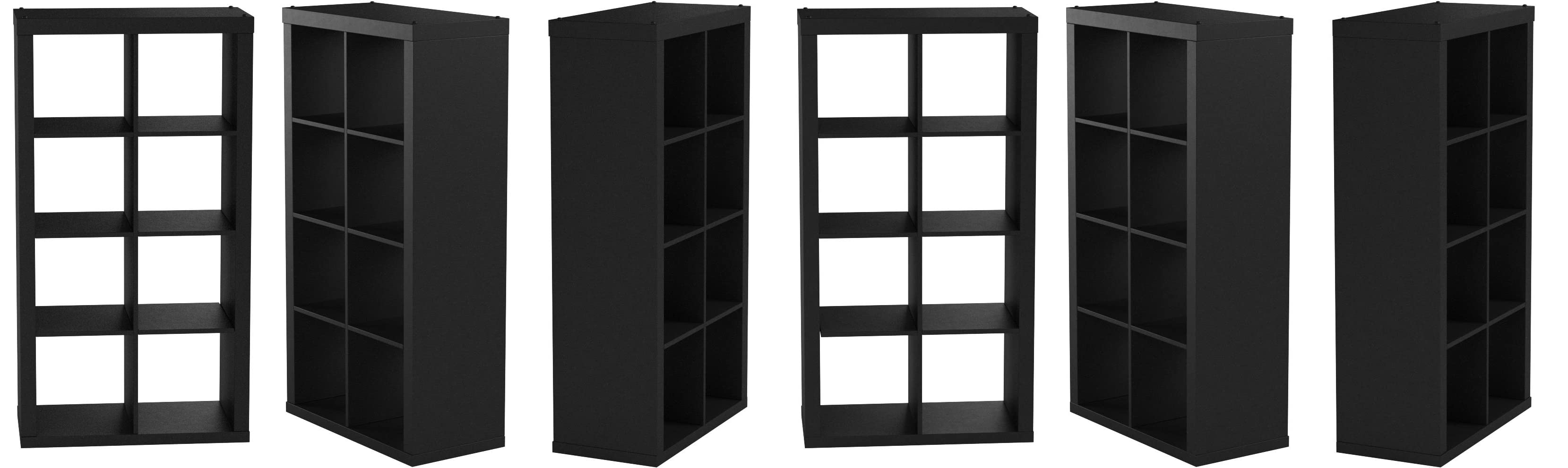 Better Homes and Gardens 8-Cube Organizer and Microfiber Cleaning Cloth Bundle Black