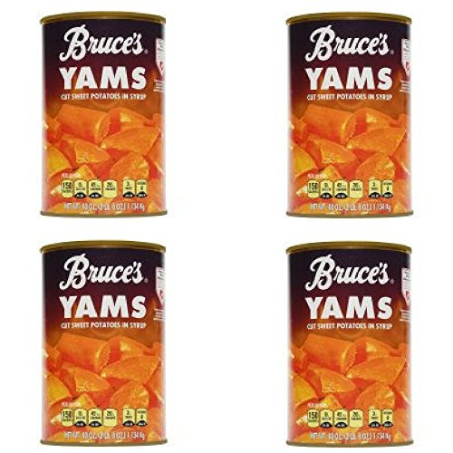 Bruce's Yams Cut Sweet Potatoes in Syrup, 40 oz - Pack of 4 by Bruce Foods