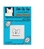 Little City Dogs CHICKEN FLAVORED Praziquantel Tapeworm Wormer Capsules for Cats (6 Capsules), My Pet Supplies