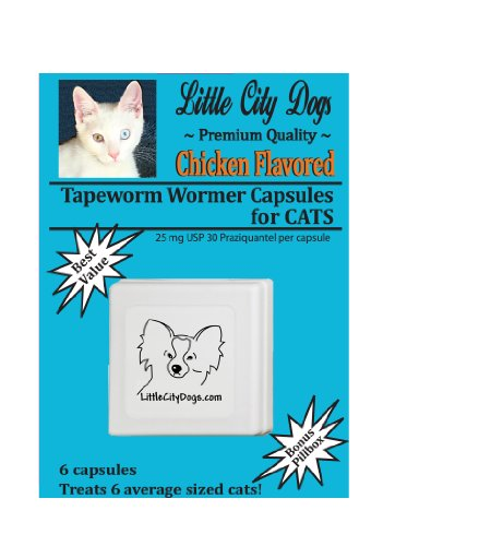 Little City Dogs CHICKEN FLAVORED Praziquantel Tapeworm Wormer