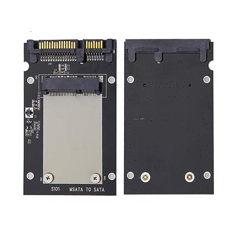ZqiroLt Adaptador de Tarjeta, mSATA SSD a 2,5 Pulgadas SATA ...