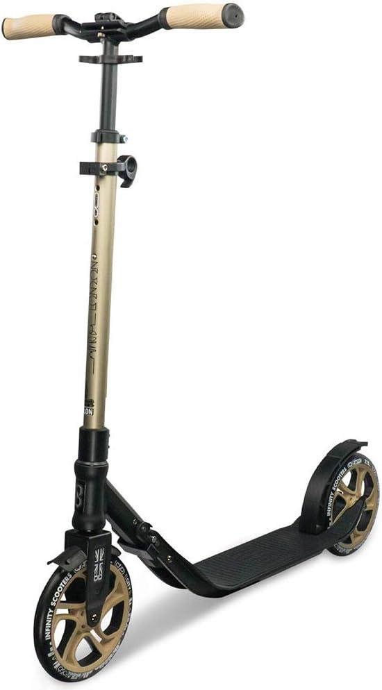 Infinity Scooters Patinete Plegable para Niños y Adultos - Patinete Scooter de Ruedas Grandes ABEC-7 con Manillar Ajustable en Altura