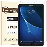 Galaxy Tab A 10.1 Screen Protector Glass, ZAOX SM-T580 Bubble-Free/Ultra Clear/9H Hardness Tempered Glass Screen Protector Film for Samsung Galaxy Tab A 10.1 (2 Pack Clear)