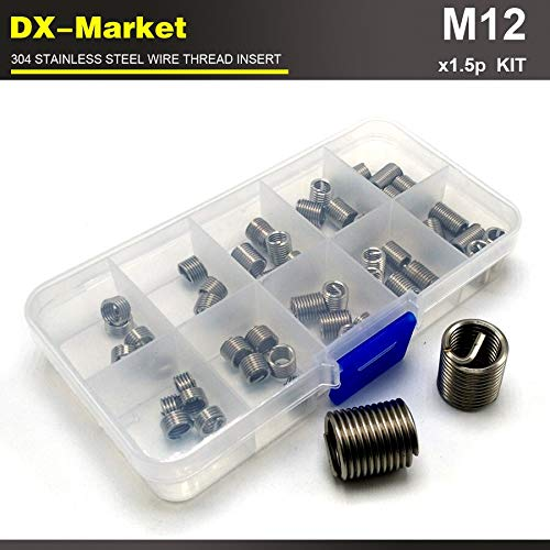 Thread Repair kit Ochoos m121.5P 1d 1.5d 2D 2.5d 3D Each 5pcs 304 Stainless Steel Bolt Thread Inserts 25pcs