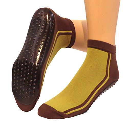 Beach Socks, Watt Strand Socken Farbe: senf/mocca, Größe: 43/46