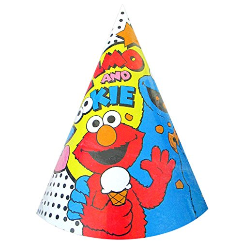 Sesame Street Vintage 'Elmo and Friends' Cone Hats (8ct)