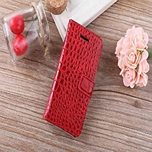 Luxury Alligator Pattern Wallet Case Wallet Leather Case for iPhone 5C(Assorted Colors) , Black