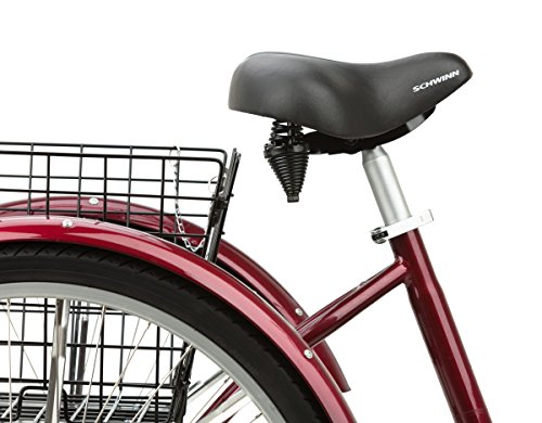 038675400207 - Schwinn Meridian Adult 26-Inch 3-Wheel Bike (Black Cherry) carousel main 2
