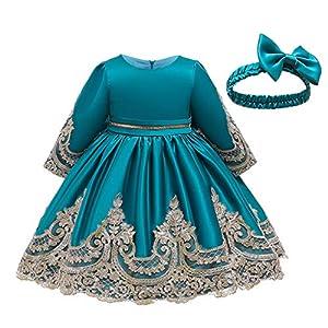 SKays Girls' Princess Bridesmaid Pageant Tutu Tulle Dress Christening Dress Festive Party Dress Wedding Dress Birthday…
